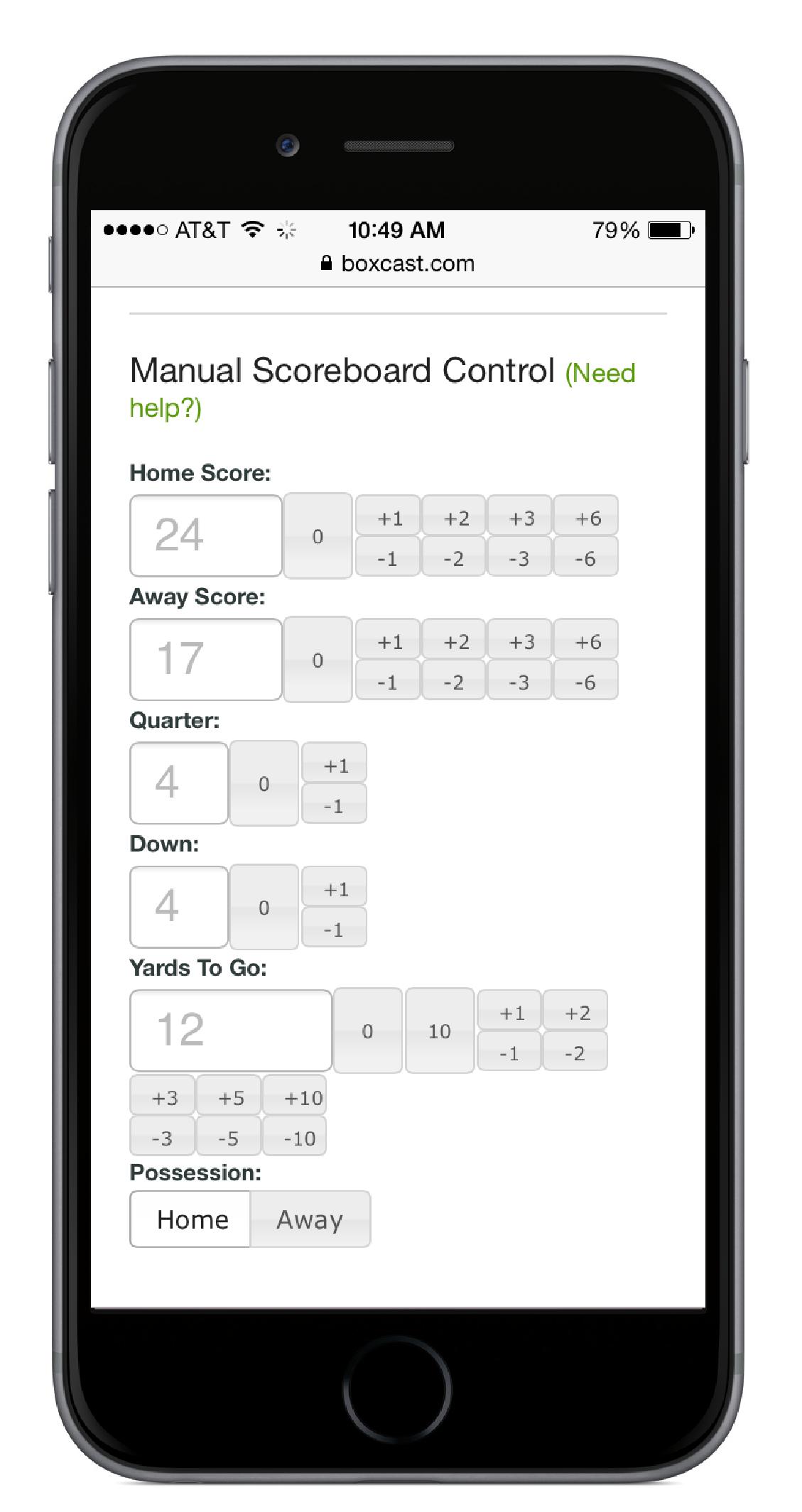 Score Board Phone