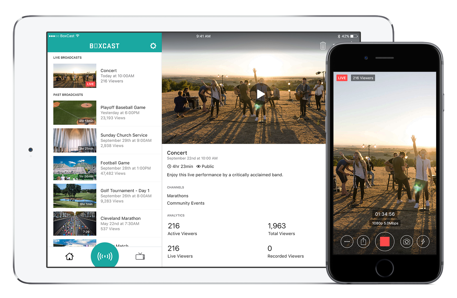 Manage broadcasts right from your iPhone