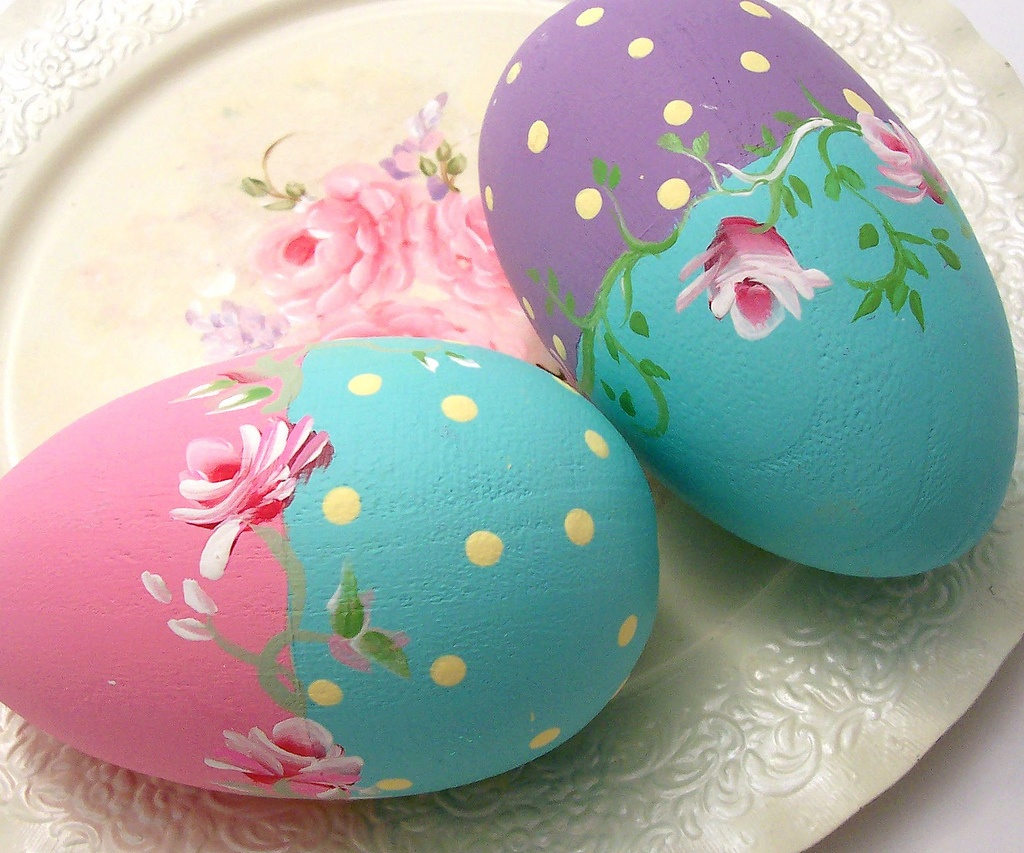 Image: Beautifully painted Easter Eggs