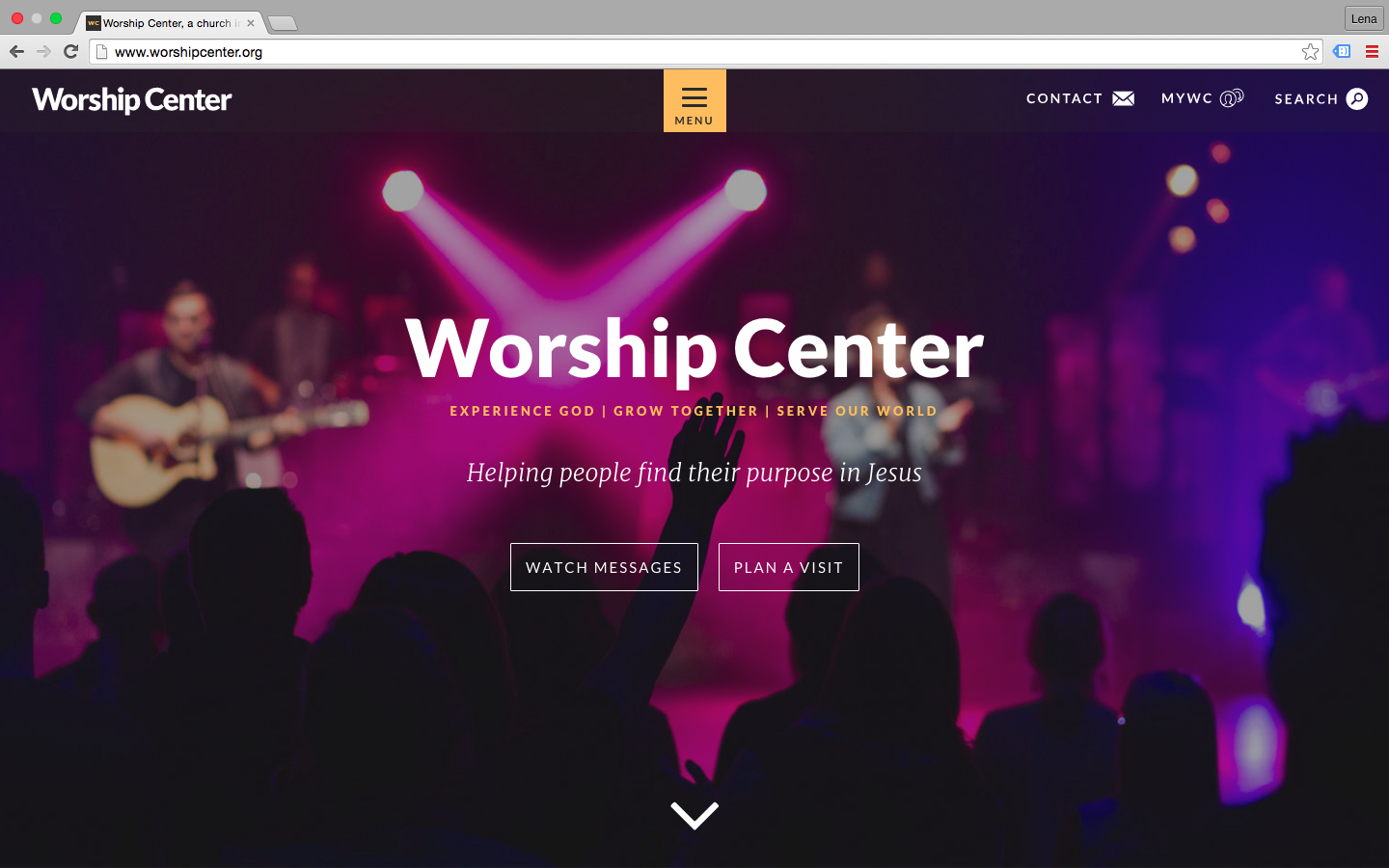 Image: Worship Center Webstie