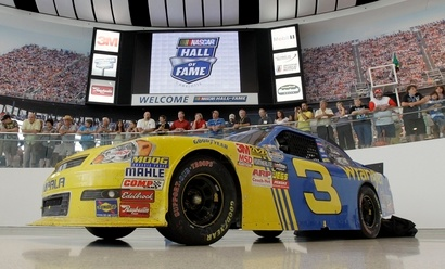 Nascar covers their cars with advertisements