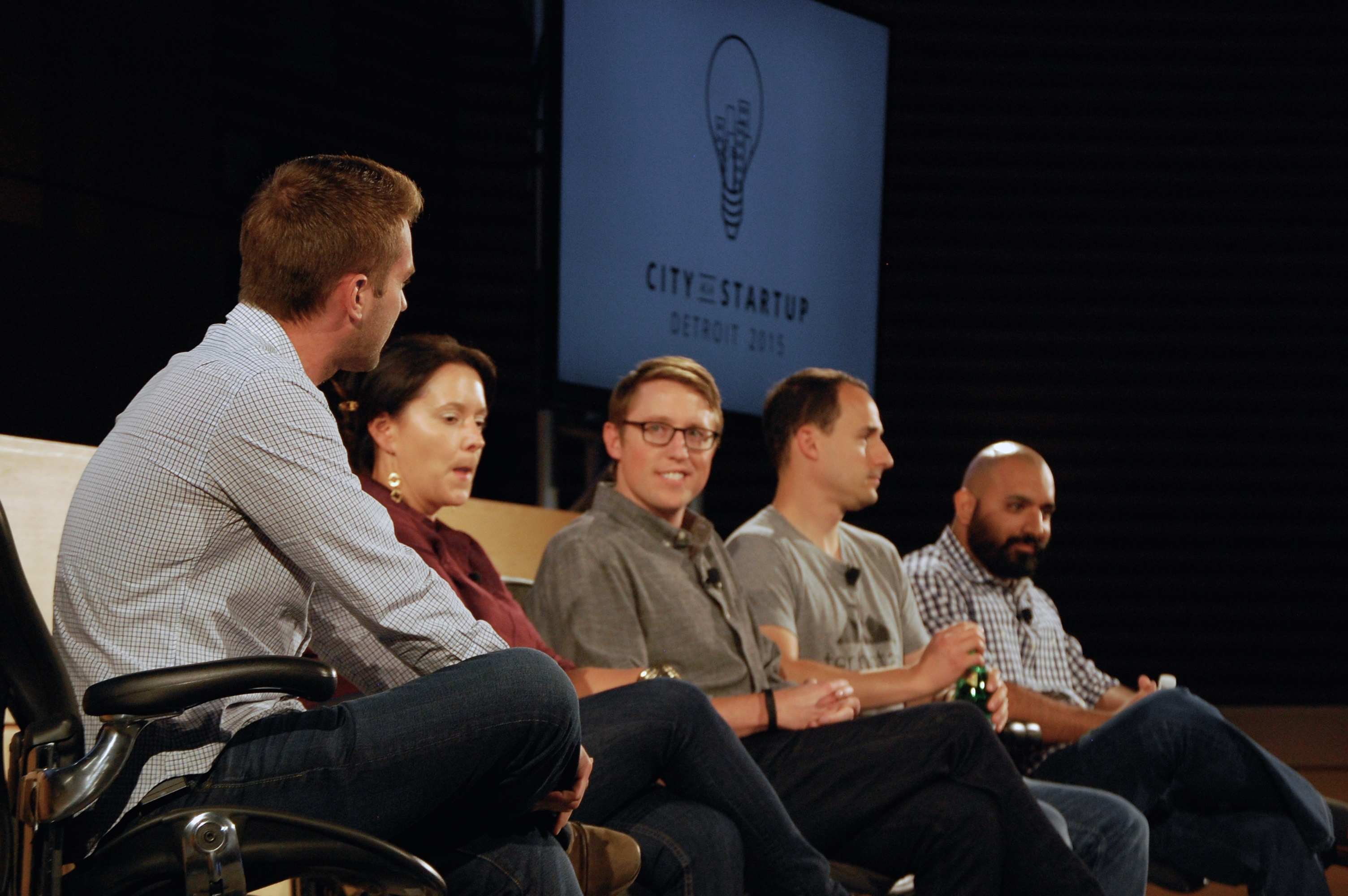 Panelists sit at Venture for America's City as a Startup Event