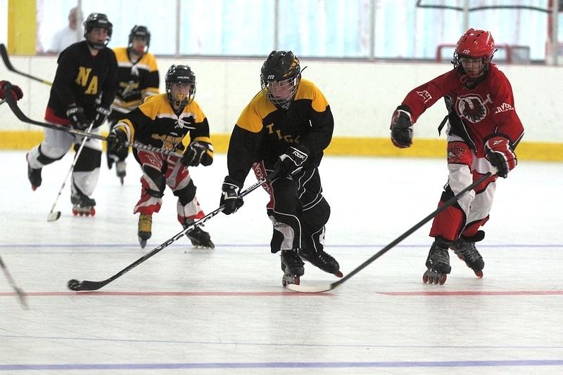 Image: Youth hockey players