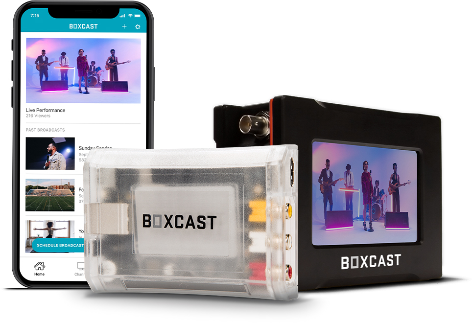 The Broadcaster app, BoxCaster and BoxCaster Pro