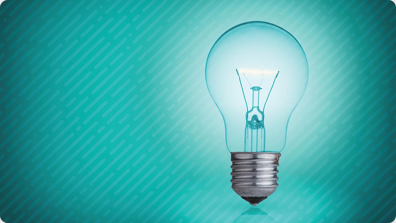 Photo of an illuminated light bulb
