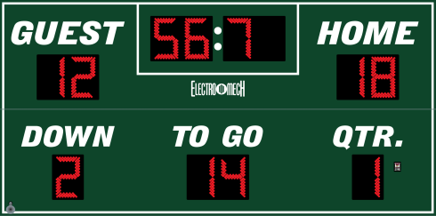 Outdated scoreboards like this one won't last for long